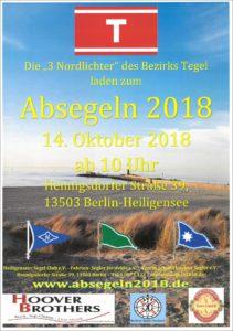 Absegeln 2018 FSJ Berlin Hennigsdorfer Str. 39, 13503 Berlin